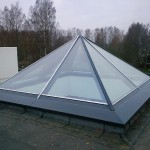 купольное остекление на крыше